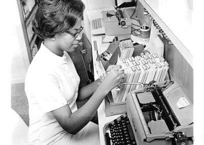 Medical Secretarial Science student Barbara Taylor, 1968