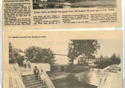 20th Anniversary Graduation of Rowan Technical College, October 2, 1983.  Salisbury Sunday Post.