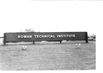 Rowan Technical Institute Entrance sign, June 1970