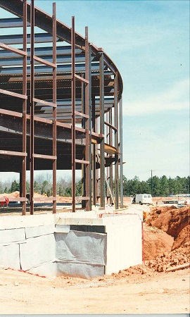 South Campus construction, 1990