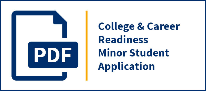 Pre-College Studies Minor Student Application