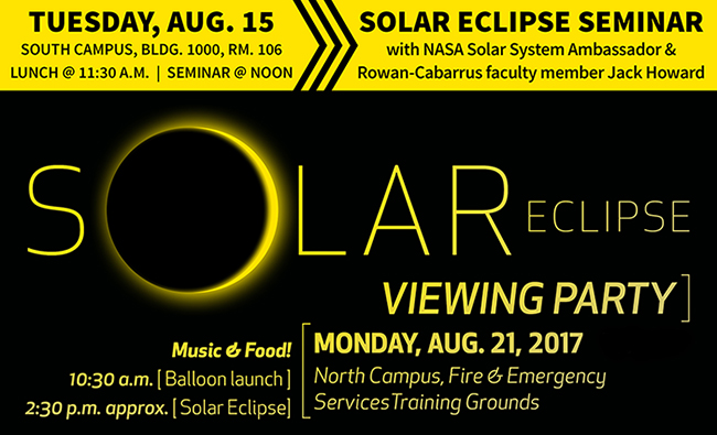 Event graphic for the Solar Eclipse
