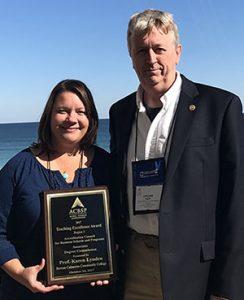 Garland Fulp and Karen Lynden with ACBSP award