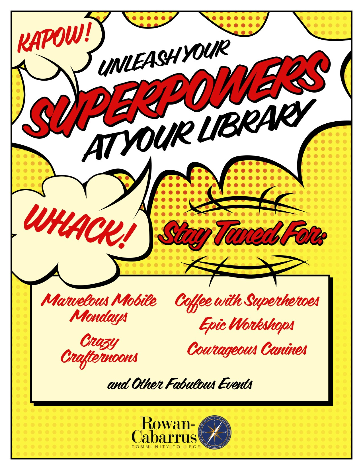 Superpowers at your library infographic