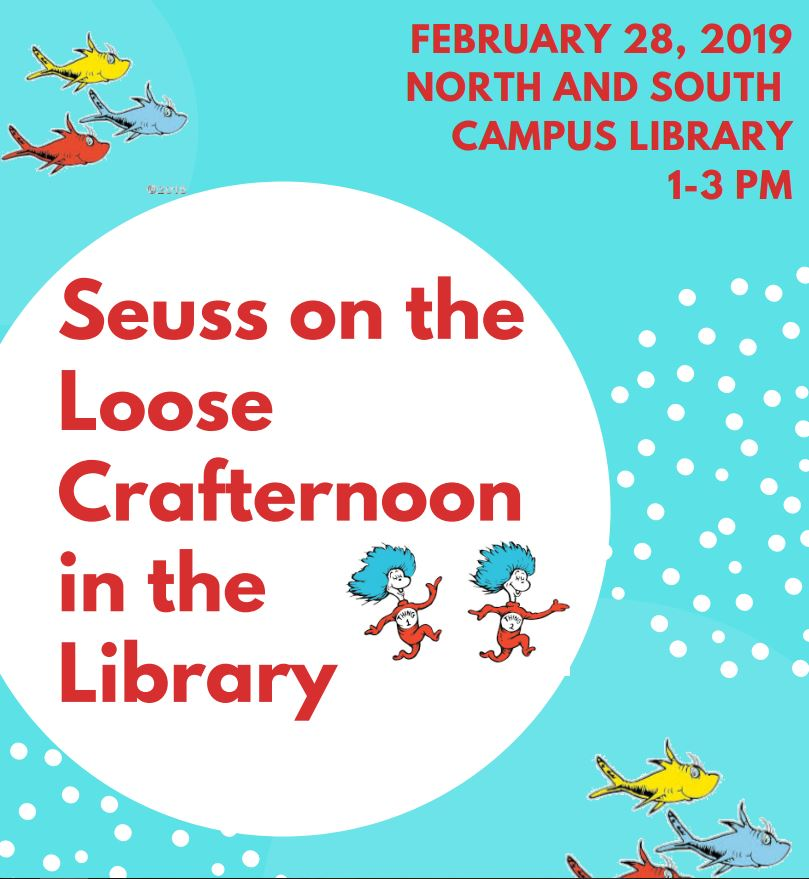 Seuss on the Loose Crafternoon in the Library logo