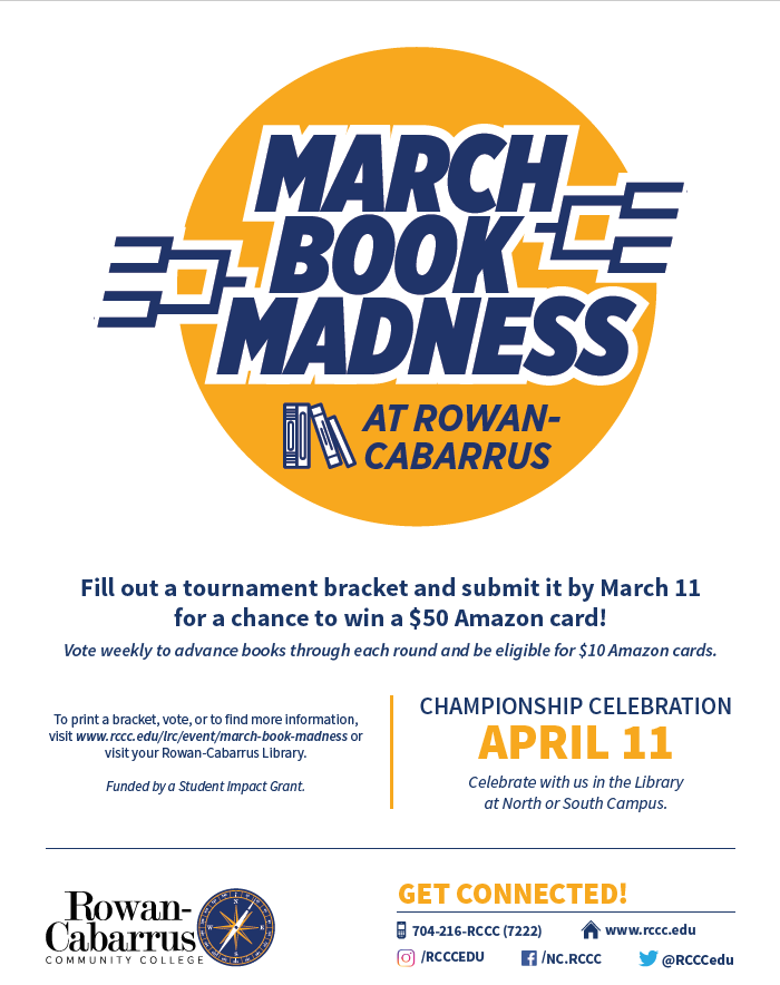 March Book Madness flyer