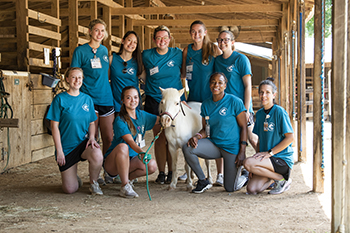 Rowan-Cabarrus Community College Occupational Therapy Assistant Students Work with Campers at Wings of Eagles Ranch